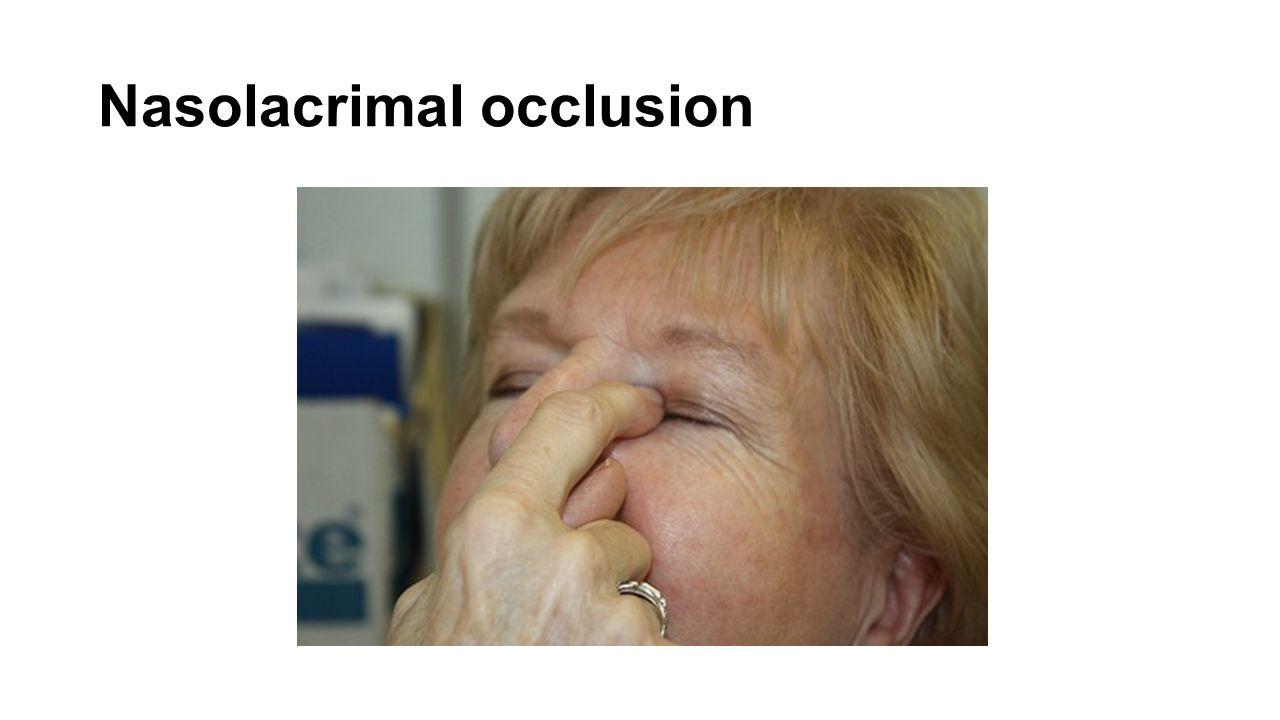 Nasolacrimal occlusion