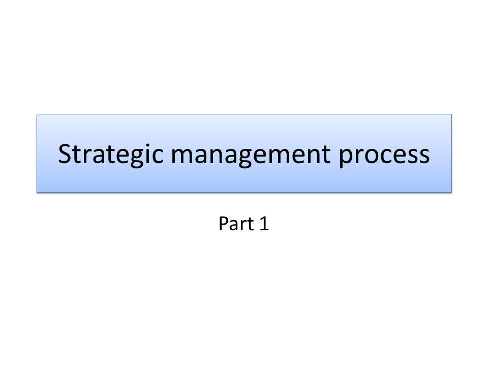 Strategic management process Part 1