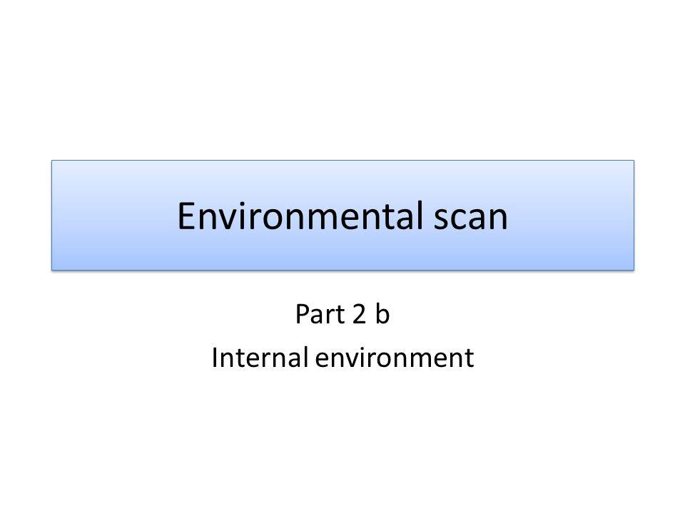 Environmental scan Part 2 b Internal environment
