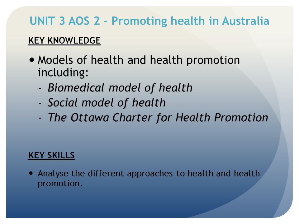 Describe two principles of the social model of health and explain how they are evident in this program.