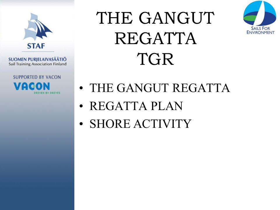 THE GANGUT REGATTA TGR THE GANGUT REGATTA REGATTA PLAN SHORE ACTIVITY