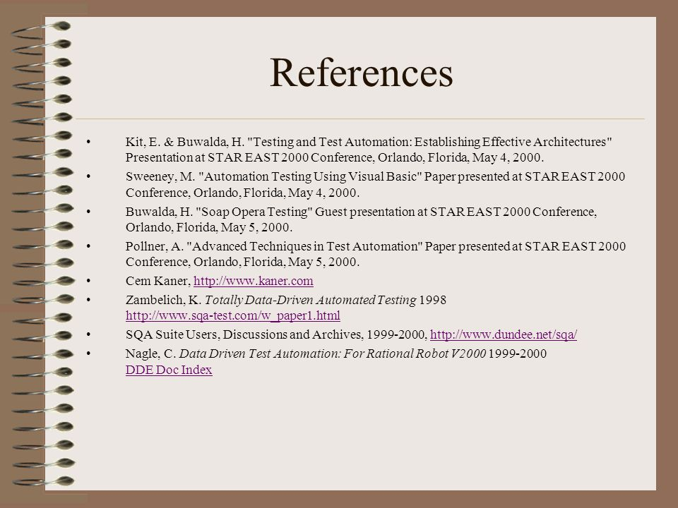 References Kit, E. & Buwalda, H.