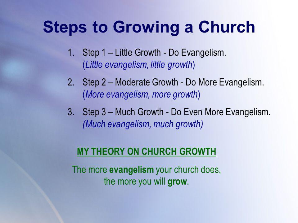 1.Step 1 – Little Growth - Do Evangelism.