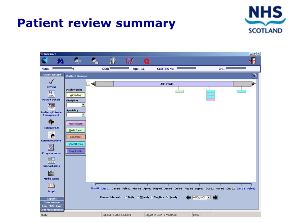 Patient review summary