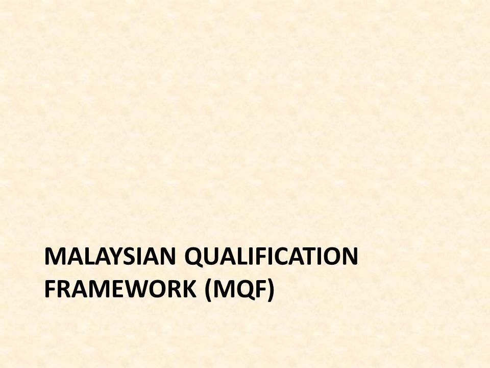 MALAYSIAN QUALIFICATION FRAMEWORK (MQF)