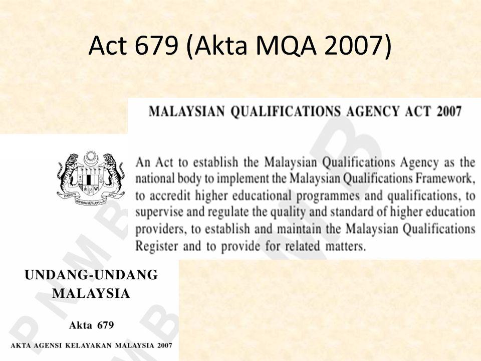 Act 679 (Akta MQA 2007)