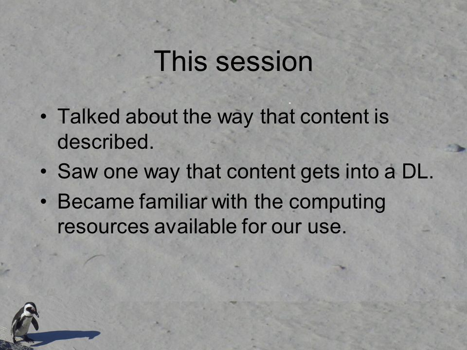 This session Talked about the way that content is described.