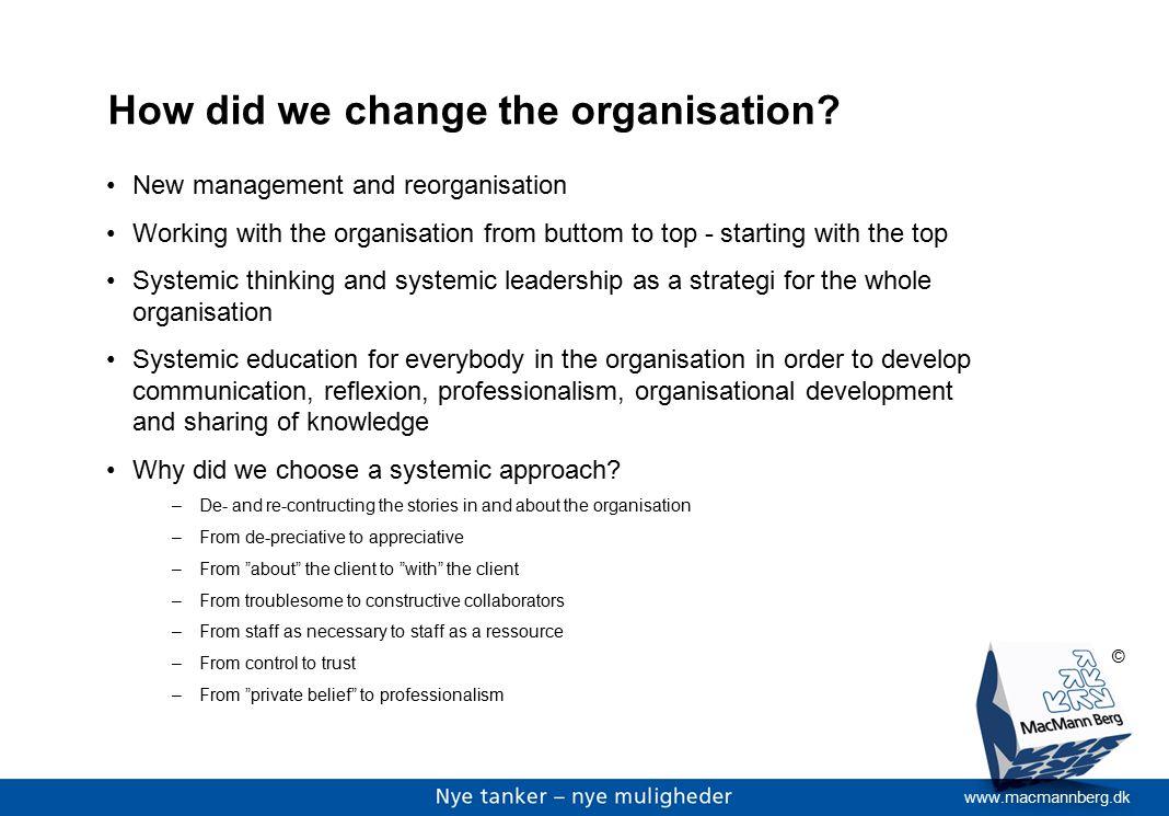 www.macmannberg.dk © How did we change the organisation.