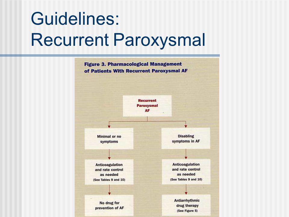 Guidelines: Recurrent Paroxysmal