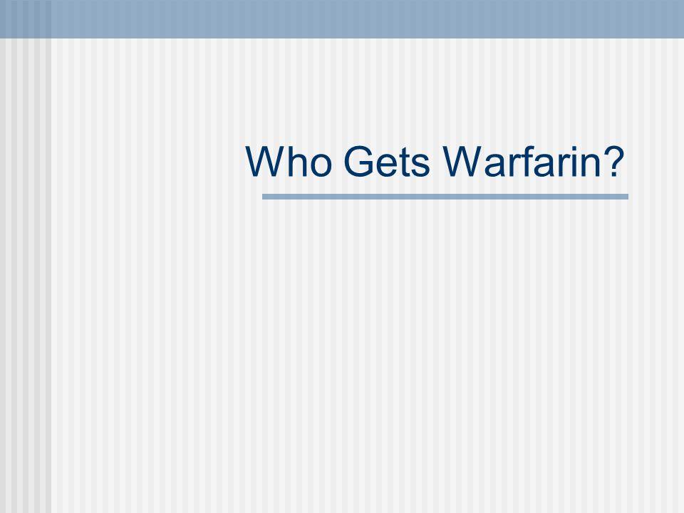 Who Gets Warfarin
