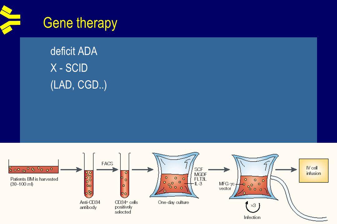 Gene therapy deficit ADA X - SCID (LAD, CGD..)