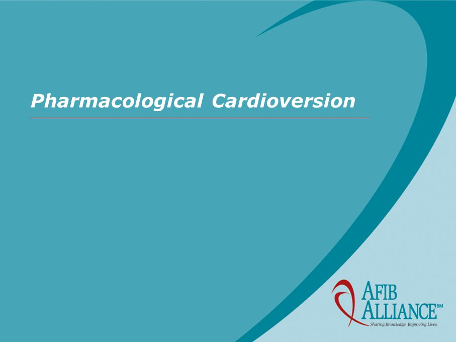 Pharmacological Cardioversion