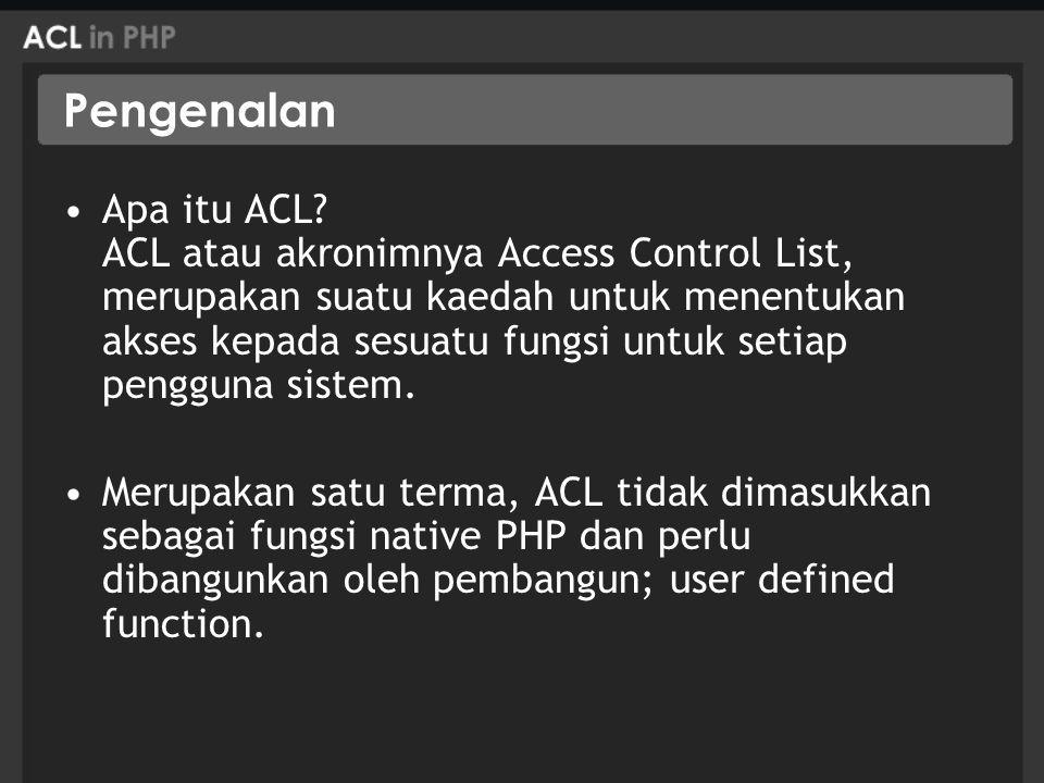 Pengenalan Apa itu ACL.
