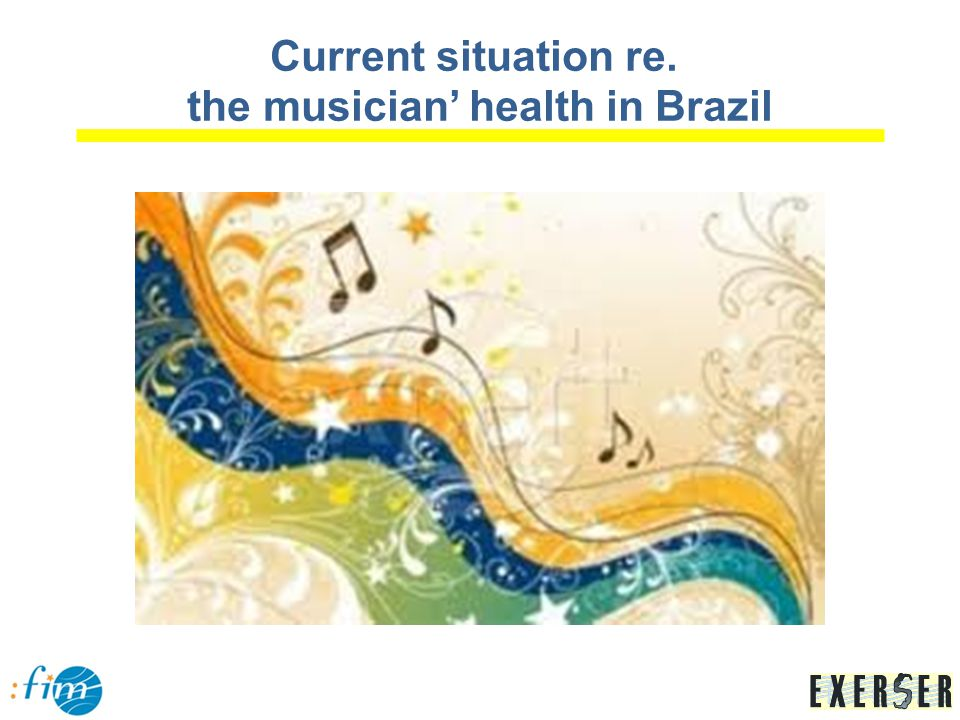 S EXERSER – Integral Health Care Center for Musicians (BH -MG, since 1999): five health professionals (research and clinical work) Activities: medicine, physiotherapy, occupational therapy in upper limb rehabilitation, occupational therapy in mental health and speech therapy master and PhD thesis in Medical and Music school, UFMG; individual and group free care – CEREST– G/Hospital das Clínicas (UFMG); contribution in regional and national events;