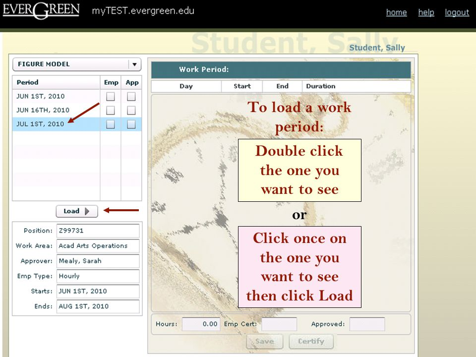 The next set of slides describes the online time sheet from a Time Approver's perspective.
