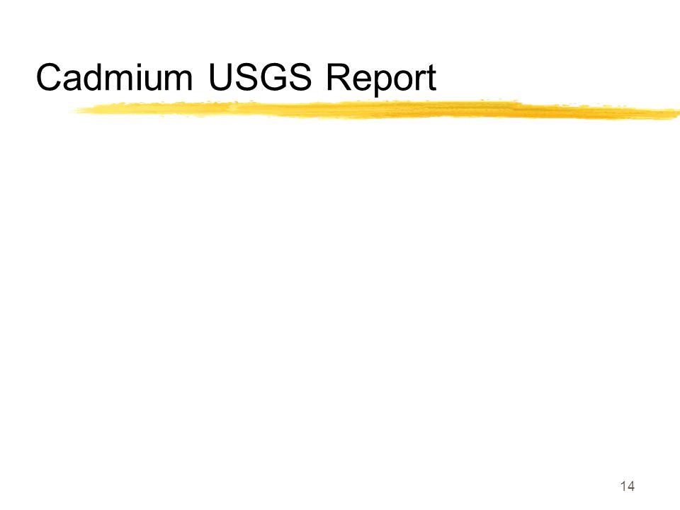 Cadmium USGS Report 14
