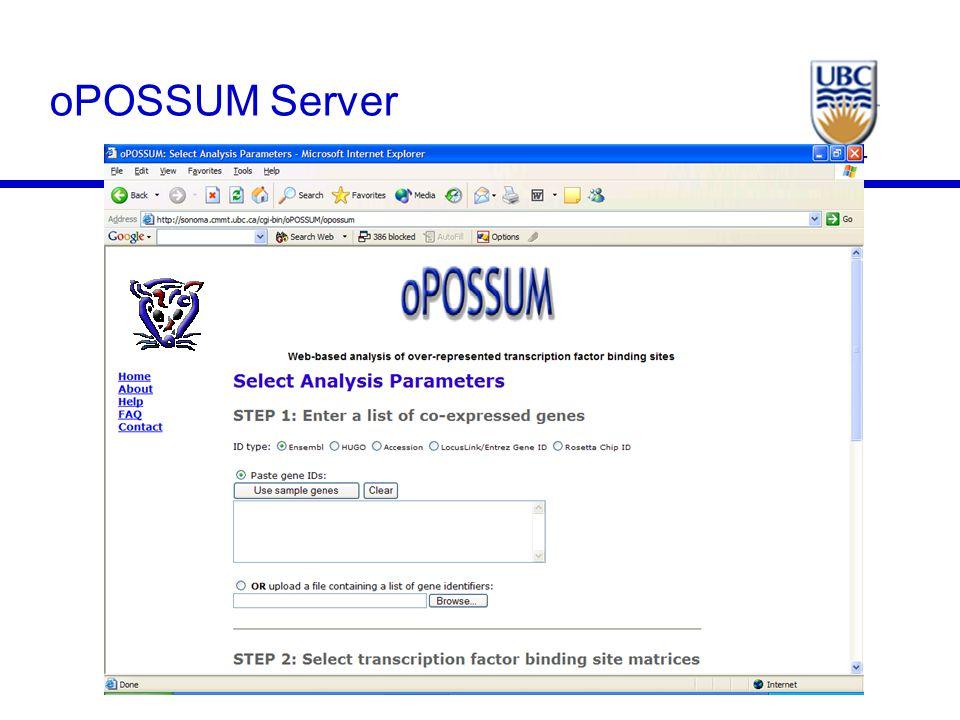 CMMT oPOSSUM Server