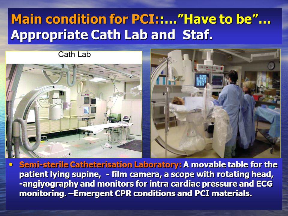 Catheterisation methods.Arterial access: Direct access.
