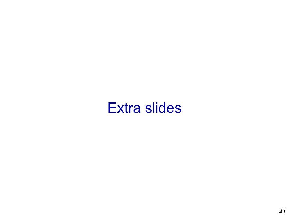41 Extra slides