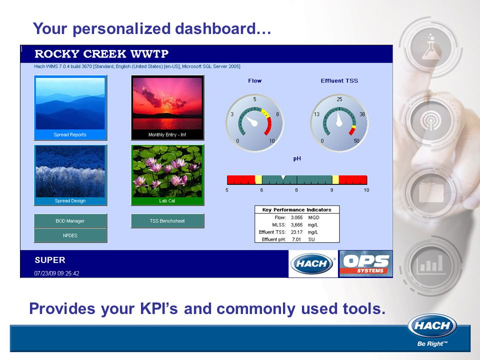 Your personalized dashboard… Provides your KPI's and commonly used tools.