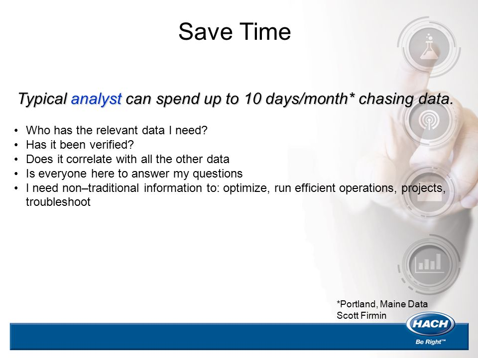 Typical analyst can spend up to 10 days/month* chasing data. Who has the relevant data I need? Has it been verified? Does it correlate with all the ot