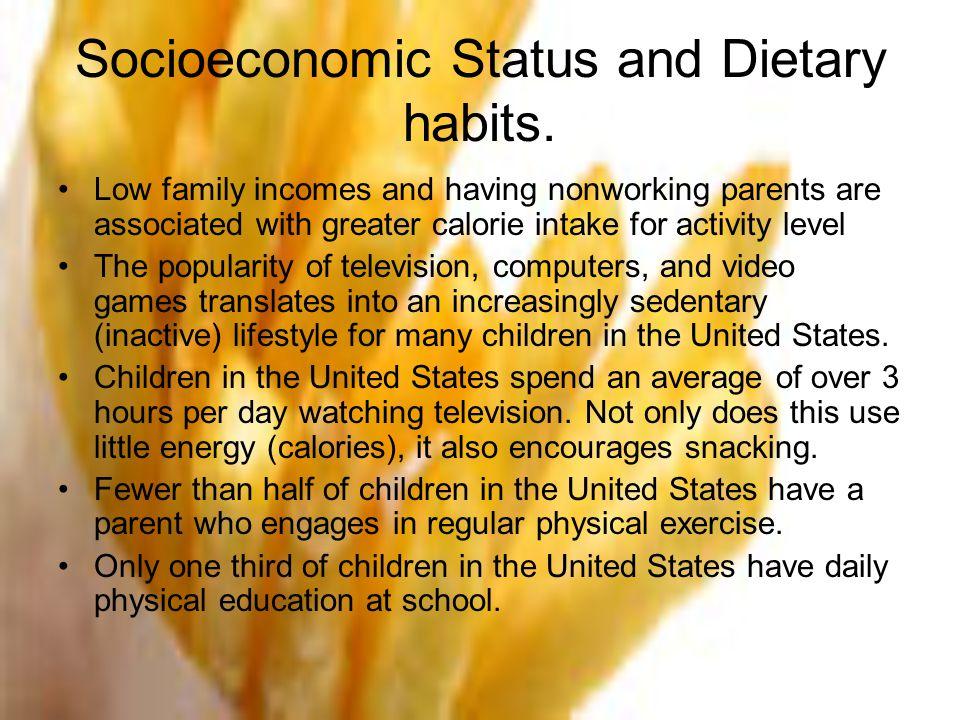 Socioeconomic Status and Dietary habits.