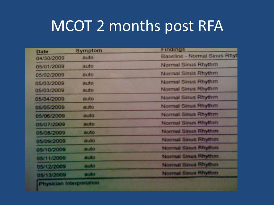 MCOT 2 months post RFA