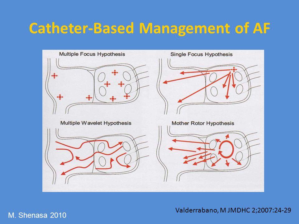 Catheter-Based Management of AF Valderrabano, M JMDHC 2;2007:24-29 M. Shenasa 2010
