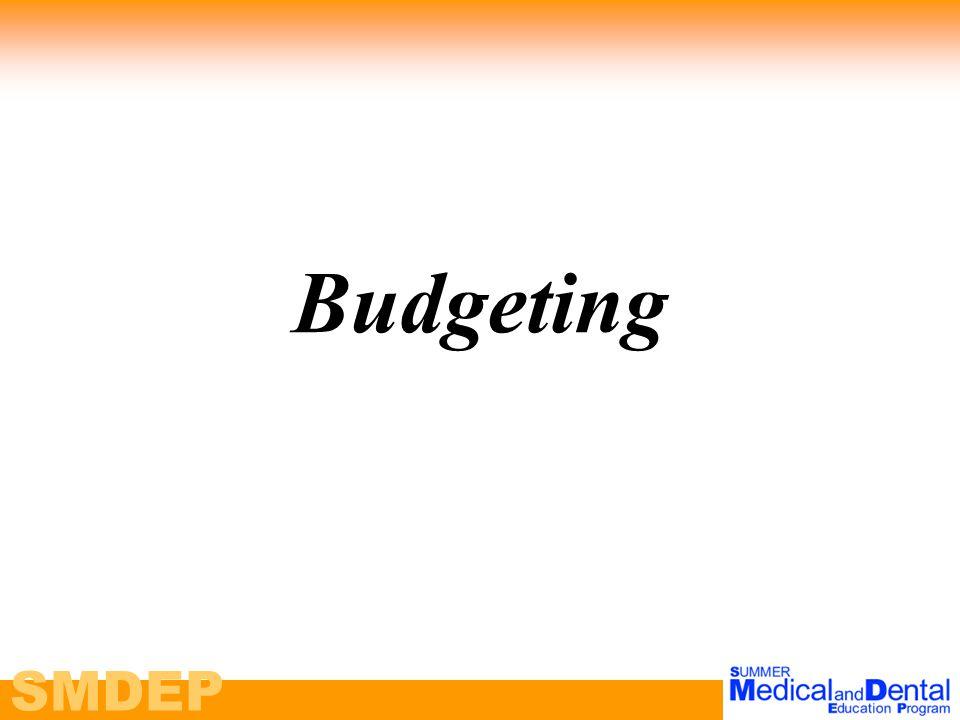 SMDEP Budgeting