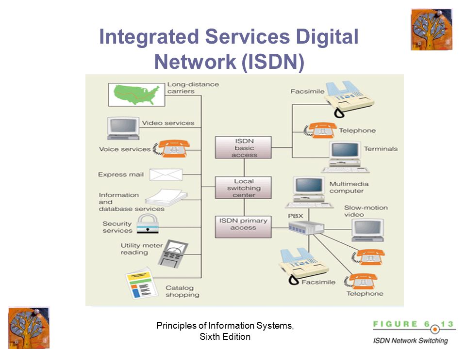 Principles of Information Systems, Sixth Edition Carriers and Services Common carriers Value-added carriers Switched and dedicated lines Private branch exchange (PBX) Wide-area telecommunications service (WATS) Phone and dialing services Digital subscriber line (DSL) T1 Carrier