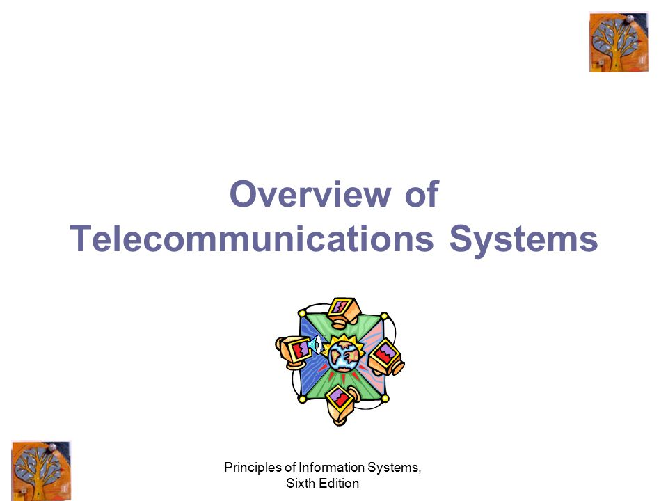 Principles of Information Systems, Sixth Edition Principles and Learning Objectives The effective use of telecommunications and networks can turn a co