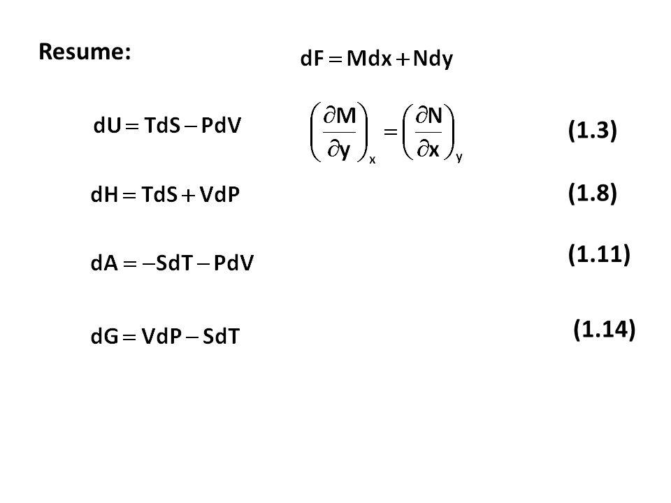 Resume: (1.3) (1.8) (1.11) (1.14)