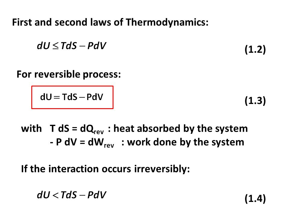 The internal energy change can be calculated by integrating eq.