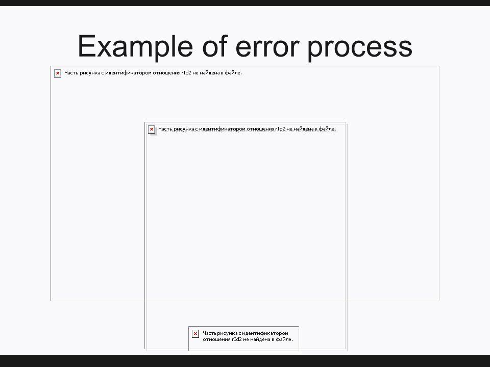 Example of error process