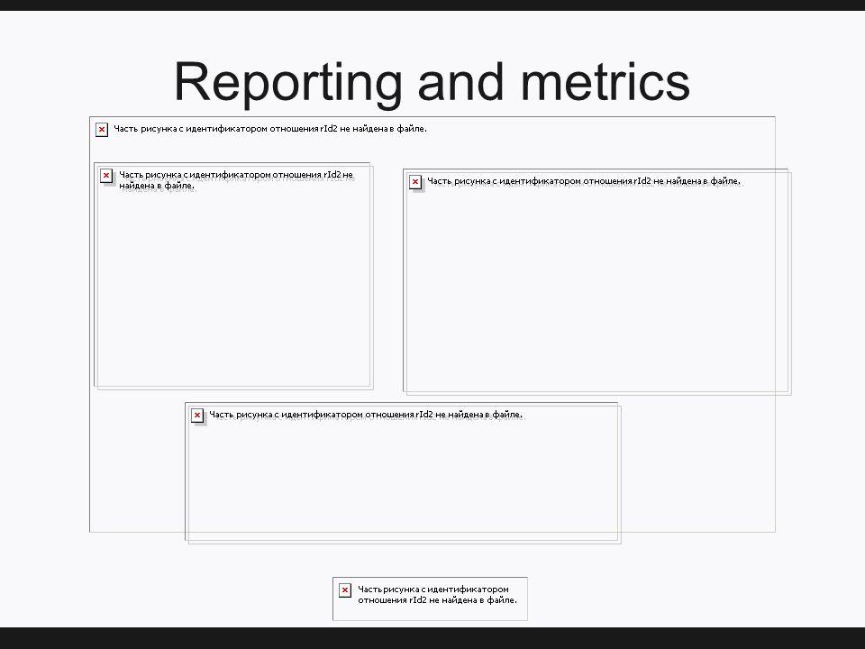 Reporting and metrics