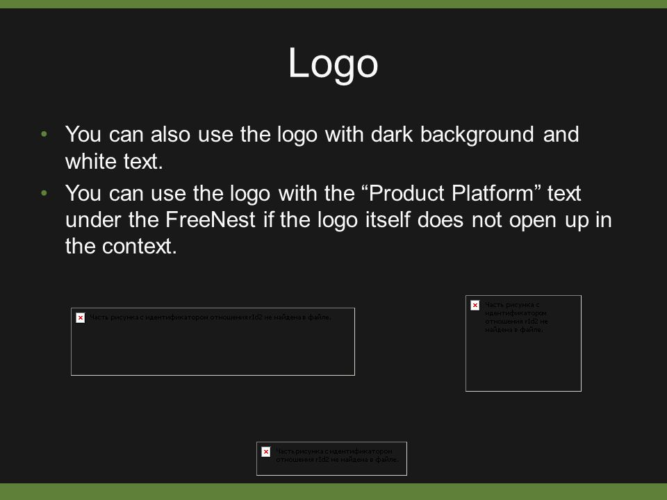 """Logo You can also use the logo with dark background and white text. You can use the logo with the """"Product Platform"""" text under the FreeNest if the lo"""
