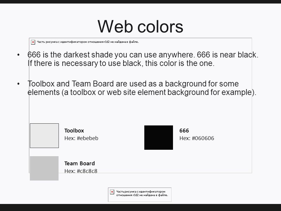 Web colors 666 is the darkest shade you can use anywhere.