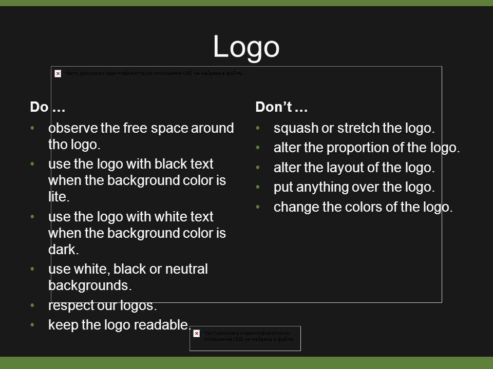 Logo Do … observe the free space around tho logo.