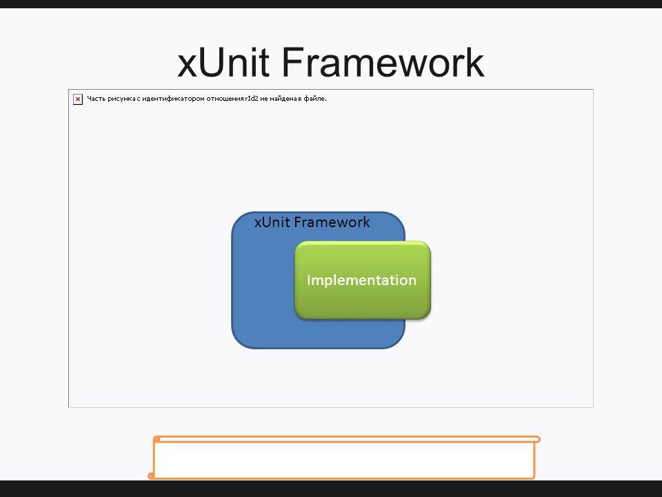 xUnit Framework Implementation xUnit Framework