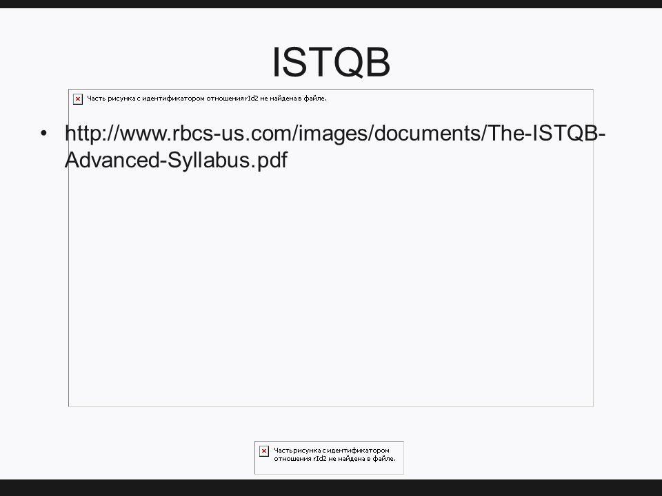 ISTQB http://www.rbcs-us.com/images/documents/The-ISTQB- Advanced-Syllabus.pdf