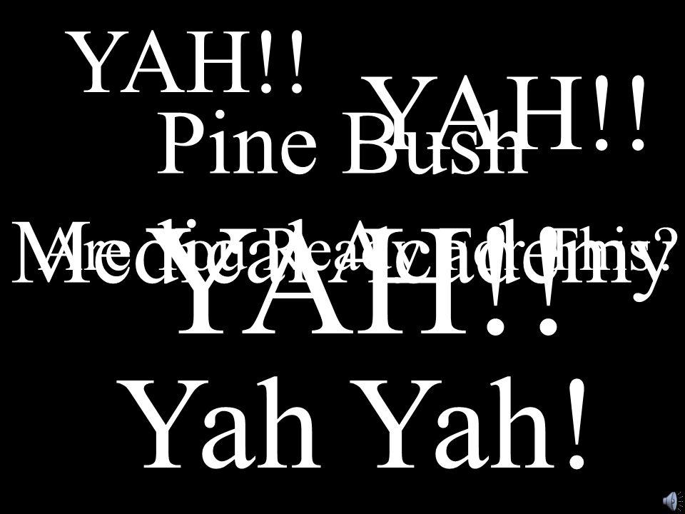 Are You Ready For This? Pine Bush Medical Academy YAH!! YAH!! YAH!! Yah Yah!
