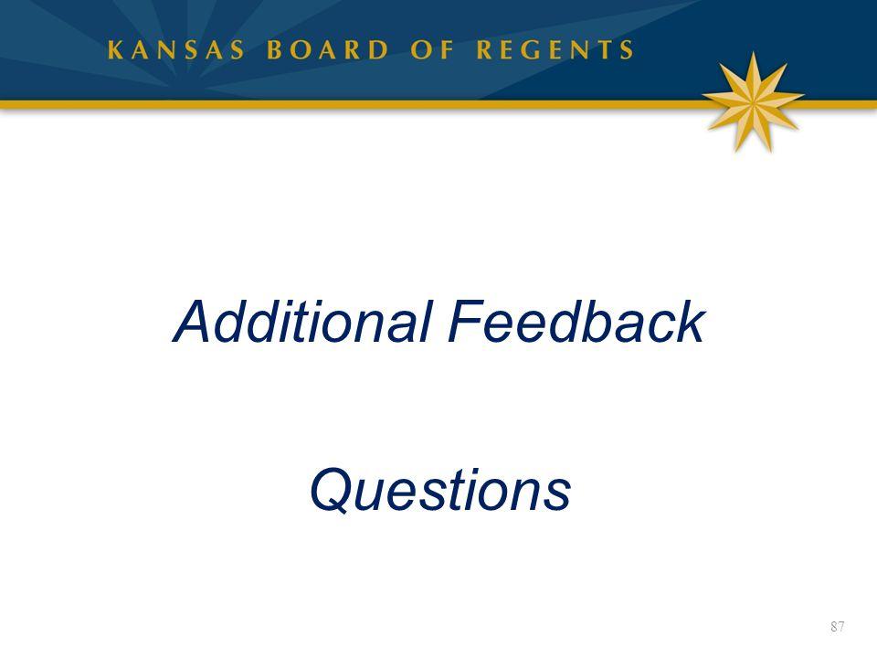 Additional Feedback Questions 87