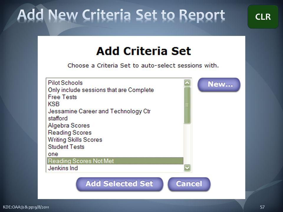 KDE:OAA:js & pp:9/8/2011 57 CLR