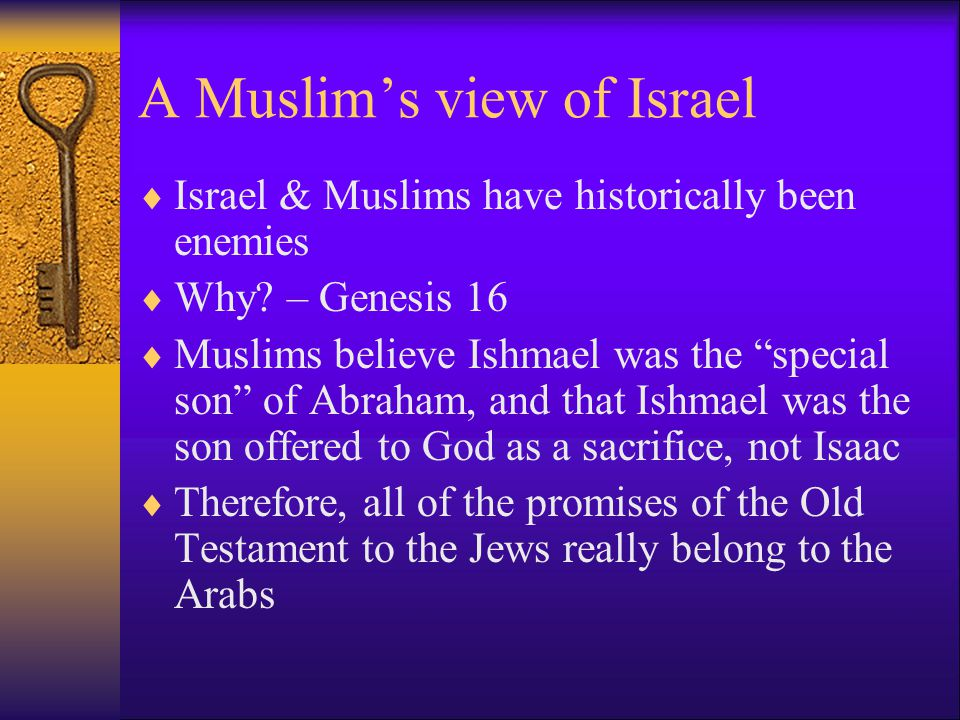 A Muslim's view of Israel  Israel & Muslims have historically been enemies  Why.