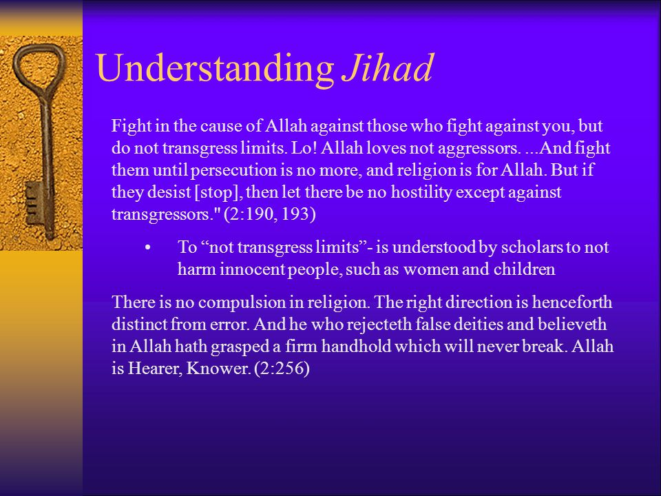 Understanding Jihad Fight in the cause of Allah against those who fight against you, but do not transgress limits.