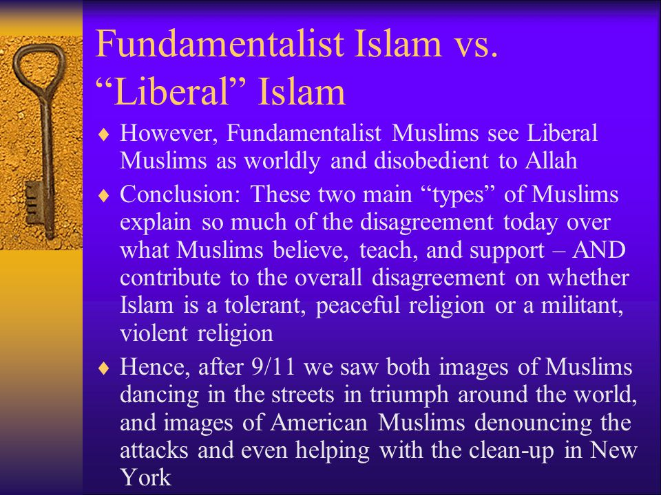 Fundamentalist Islam vs.