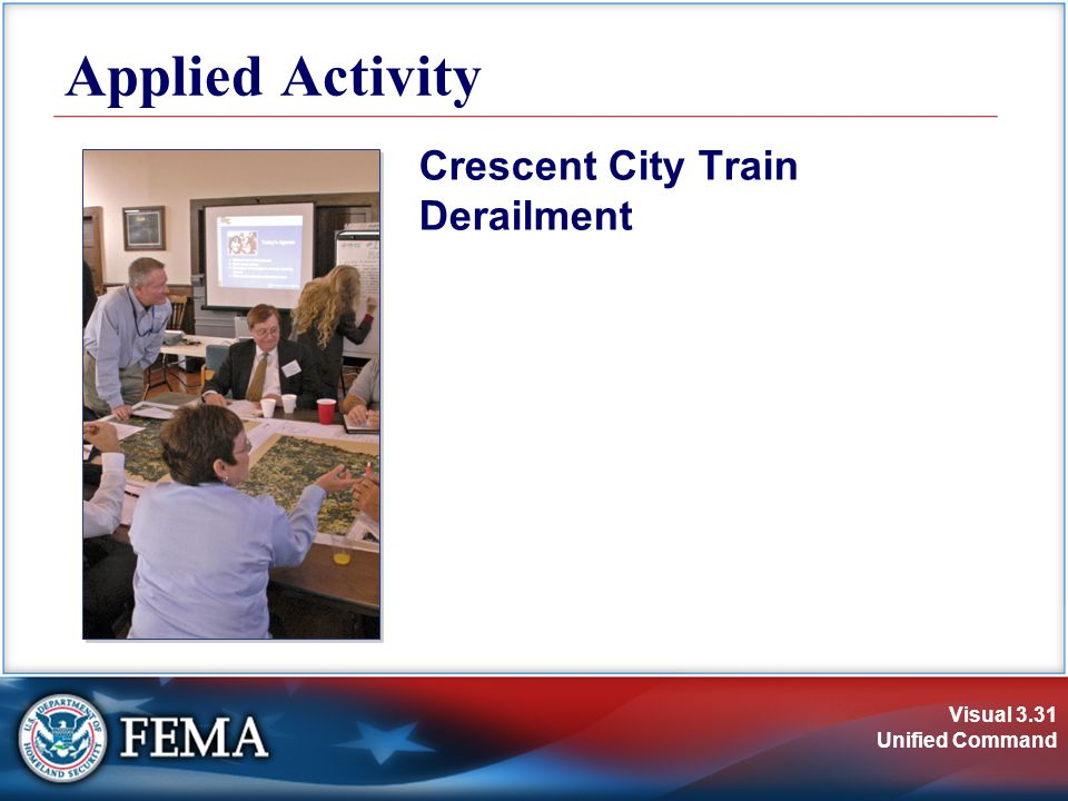 Visual 3.31 Unified Command Applied Activity Crescent City Train Derailment