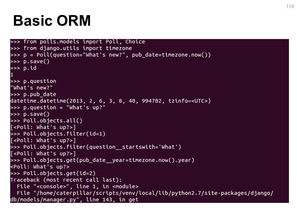 Basic ORM 114