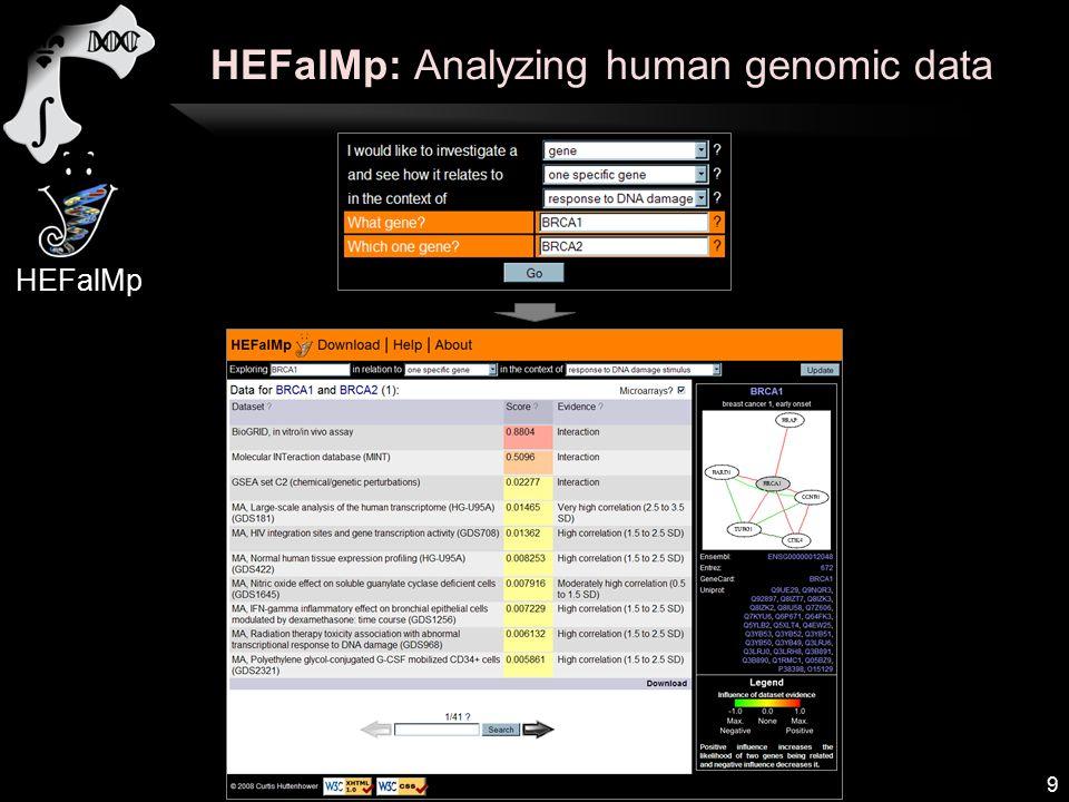 HEFalMp: Analyzing human genomic data 9 HEFalMp