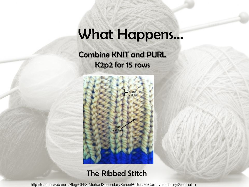 What Happens… Knit both sides of the project The Garter Stitch http://blog.lionbrand.com/2013/09/23/the-ups-and-downs-of-knitting-counting-your-rows/